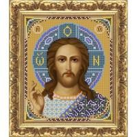"""Рисунок на ткани для вышивания бисером """"Иисус Христос Господь Вседержитель (венчальная пара)"""""""