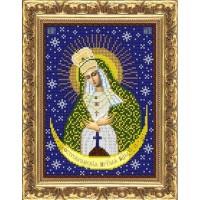 """Рисунок на ткани для вышивания бисером """"Пресвятая Богородица Остробрамская"""""""