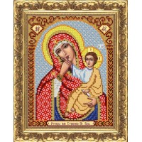 """Рисунок на ткани для вышивания бисером """"Пр.Богородица Отрада и Утешение"""""""