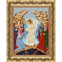 """Рисунок на ткани для вышивания бисером """"Воскресение Христово"""""""