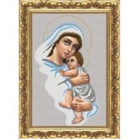 """Рисунок на ткани для вышивания бисером """"Мадонна с младенцем"""""""
