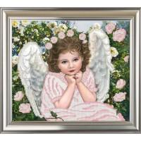 """Рисунок на ткани для вышивания бисером """"Ангел"""""""