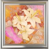 """Рисунок на ткани для вышивания бисером """"Нежные лилии"""""""