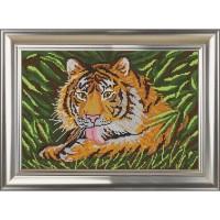 """Рисунок на ткани для вышивания бисером """"Тигр"""""""
