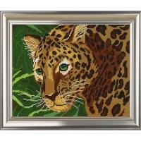 """Рисунок на ткани для вышивания бисером """"Леопард"""""""