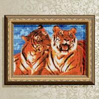 Авторская канва для вышивки бисером (© ArtSolo)  «Тигры»