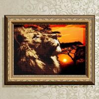 Авторская канва для вышивки бисером (© ArtSolo)  «Царь саванны»