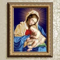 Авторская канва для вышивки бисером (© ArtSolo)  Мадонна с младенцем