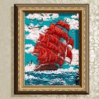 Авторская канва для вышивки бисером (© ArtSolo)  Алые паруса.