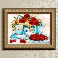 Авторская канва для вышивки бисером (© ArtSolo)  Натюрморт. Абрикос.