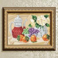 Авторская канва для вышивки бисером (© ArtSolo)  Натюрморт. Хрусталь.