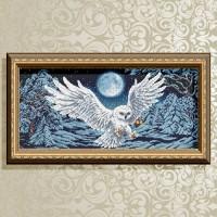 Авторская канва для вышивки бисером (© ArtSolo)  Полярная сова. (полная зашивка)