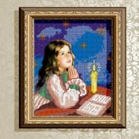 Авторская канва для вышивки бисером (© ArtSolo)  «Молитва перед сном»