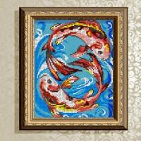 Авторская канва для вышивки бисером (© ArtSolo)  «Гармония в отношениях» Феншуй
