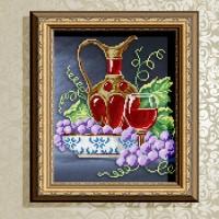 Авторская канва для вышивки бисером (© ArtSolo)  «Натюрморт с графином»