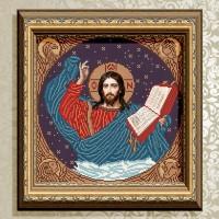 Авторская канва для вышивки бисером (© ArtSolo)  «Господь Вседержитель»
